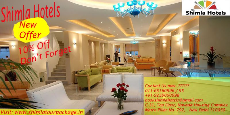 The Best Way To Book Rooms Is Shimla Hotels Online At Shimlatourpackage