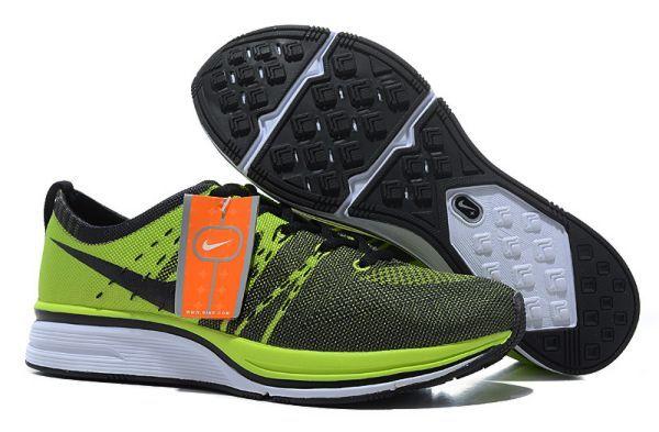 Discount Nike Flyknit Trainer Green Black Womens Sneakers