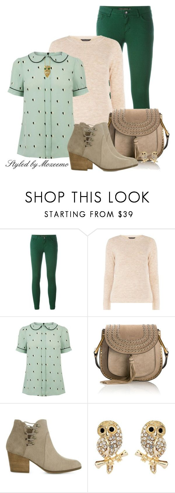 """""""Camel Plait Neck Jumper"""" by mozeemo ❤ liked on Polyvore featuring Dolce&Gabbana, mel, Oasis, Chloé, ALDO, Amrita Singh and Effy Jewelry"""