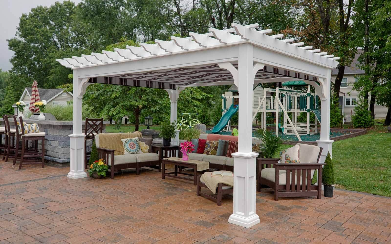 Pin By White Bed Sheets Bedroom On Landscaping Outdoor Pergola Vinyl Pergola Pergola