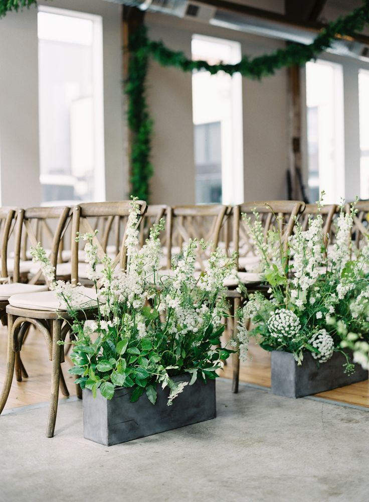 Greens Turned a City Wedding into a Garden Oasis -   14 wedding Modern aisle ideas