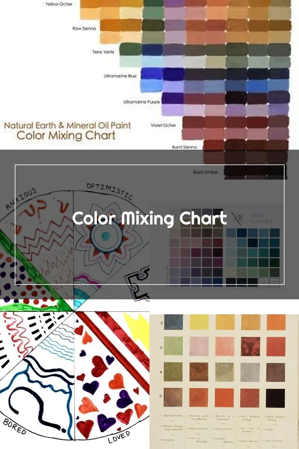 Color Mixing Chart Natural Earth Paint 2020