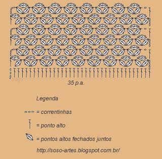 Sosô Artes: Ponto margarida ou Ponto Estrela em crochê