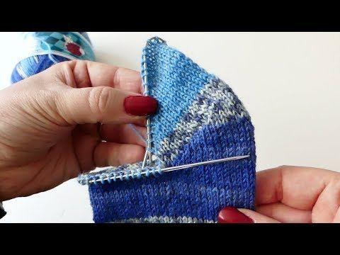 Photo of Die runde Bumerang-Ferse für Socken nach oben und oben – Sockenmuster – #Bumer …