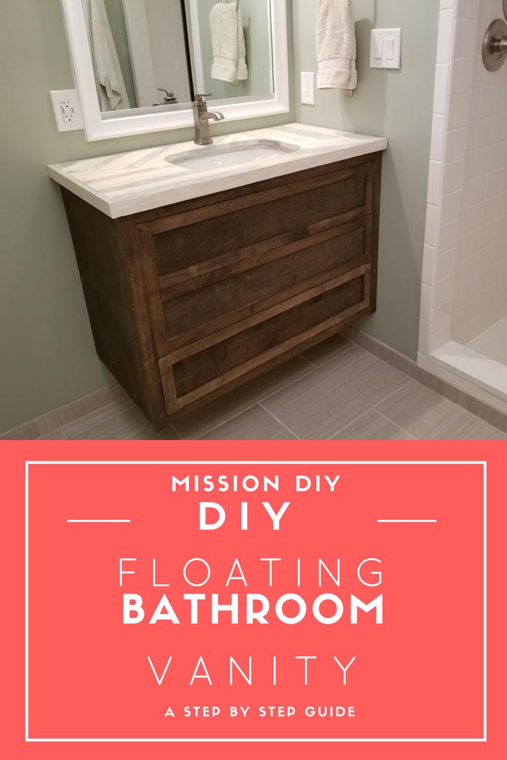 How To Make A Floating Bathroom Vanity Floating Bathroom