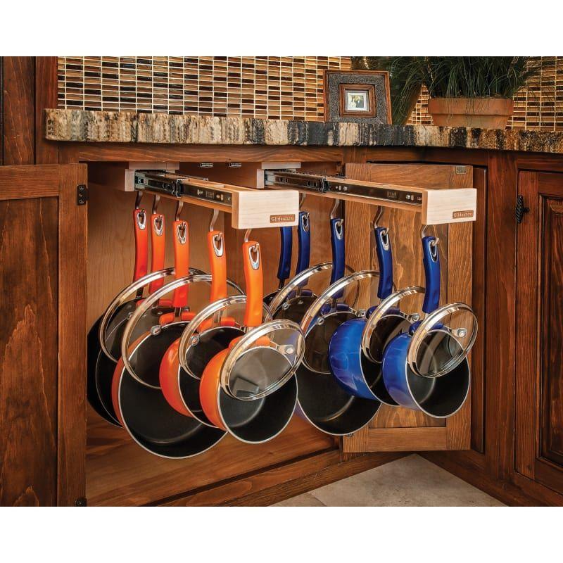 Rev-A-Shelf Glideware Pull Out 7 Hook Cabinet Orga