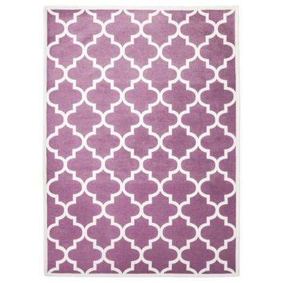 Room Geometric Rug Purple White Possible Nursery