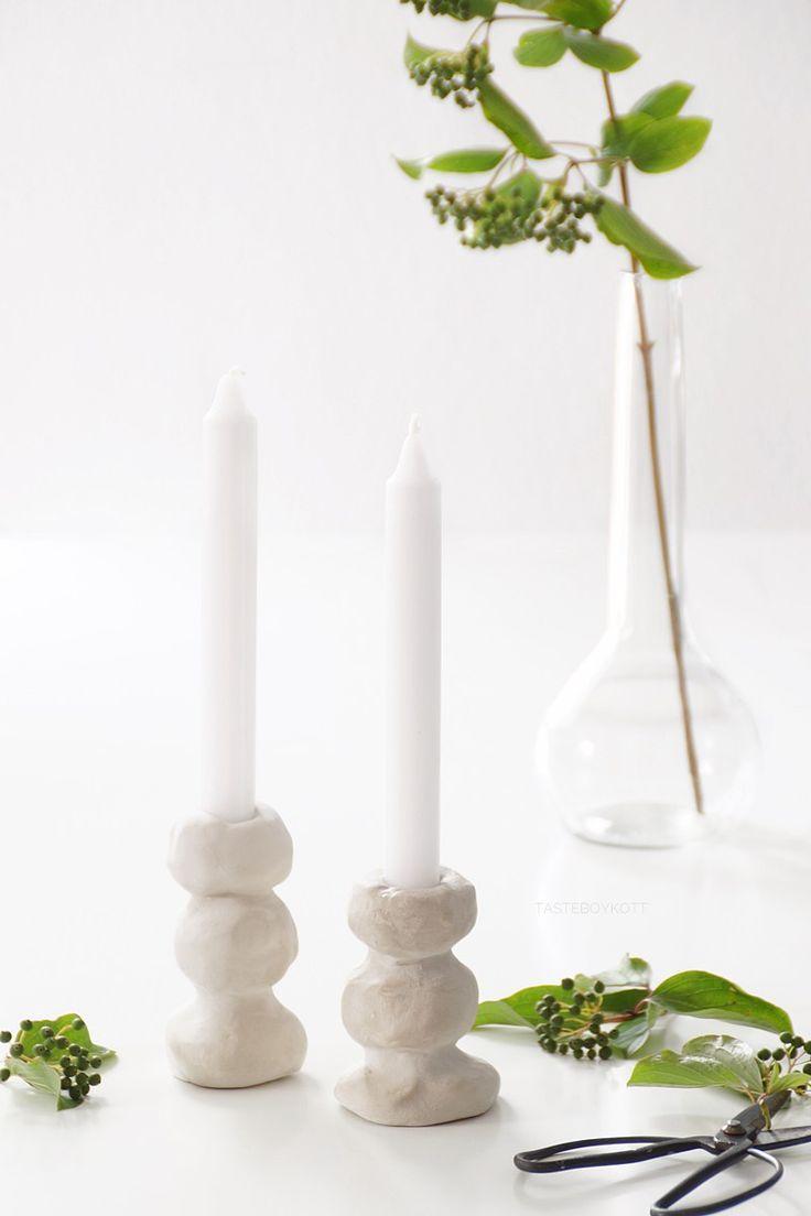 Photo of DIY: einfache Kerzenständer aus Ton selbermachen
