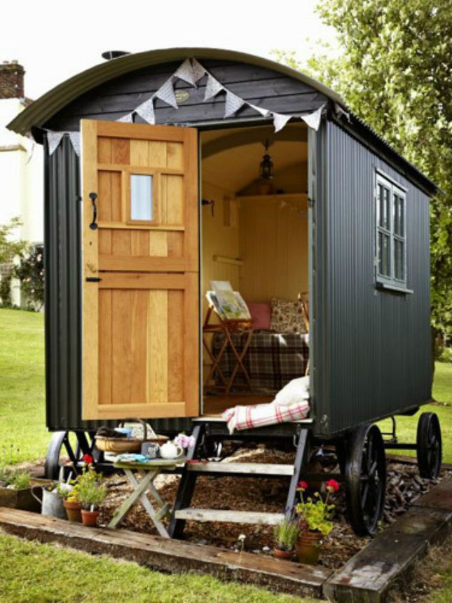 Shepherd S Hut Inspo For Your Fantasy She Shed Shepherds Hut Tiny Mobile House Small Houses On Wheels