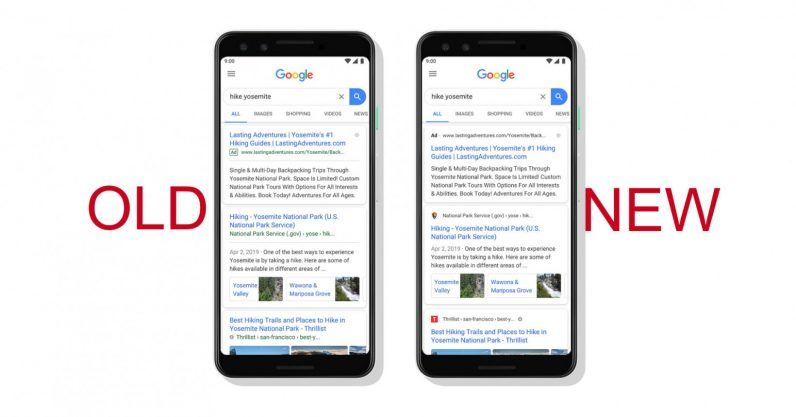 Google Search Engine New Design For Mobile Devices Google Today