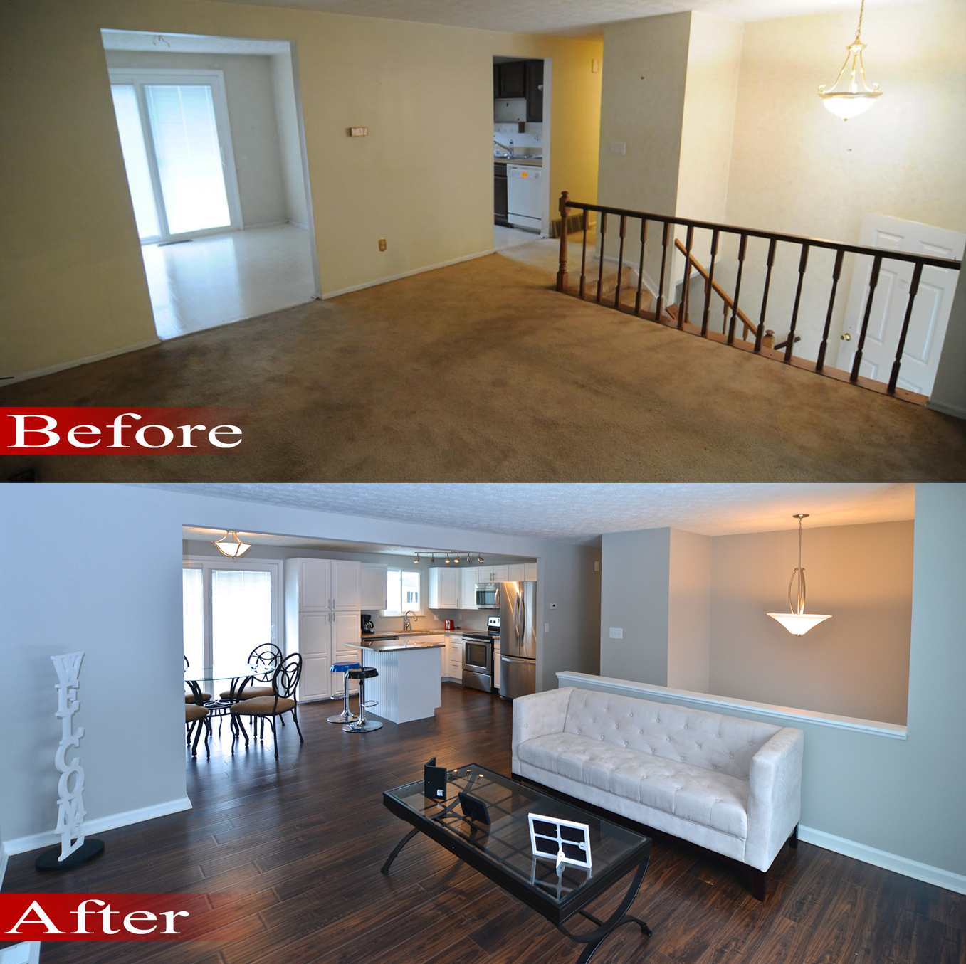 Before And After Of This Beautiful Open Concept Kitchen: Property Brothers Before And After Photos