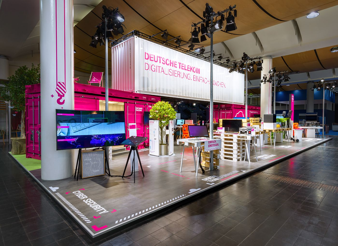 Exhibition Stand Lighting Guide : Deutsche telekom hannover messe on behance