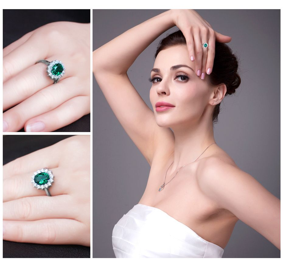 JewelryPalace Green Nano Russian Emerald 925 Sterling Silver Fashion ...