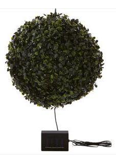 Maison & Garden - 28cm solar powered faux topiary ball