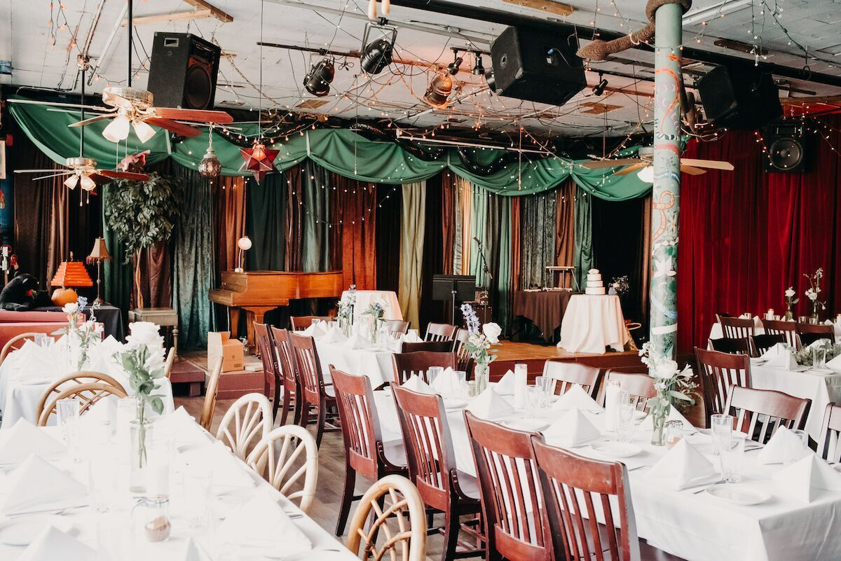 Wedding decorations with royal blue  Phil and Eddieus Royal Blue Intimate Denver Wedding  Wedding Venues