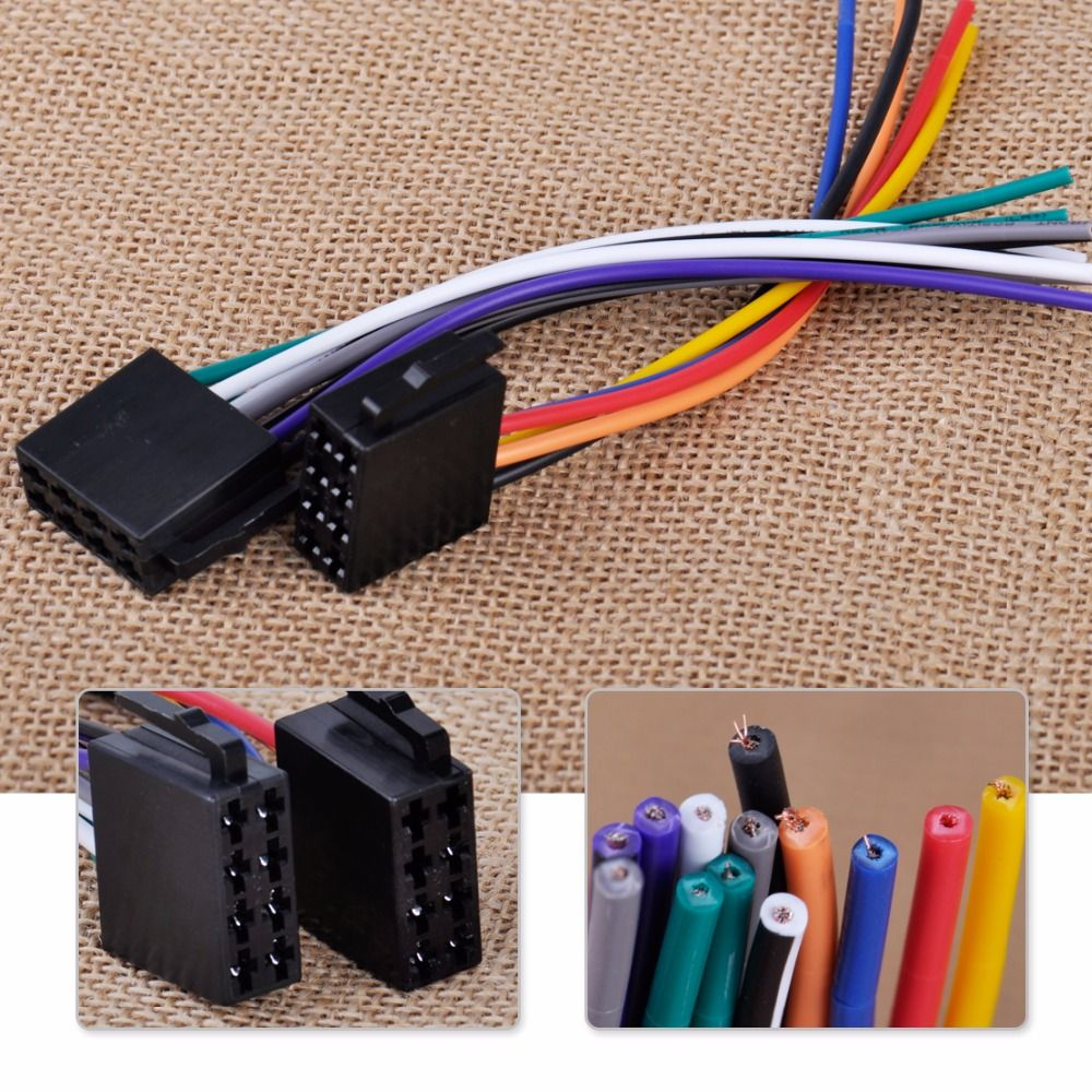 Universal Iso Radio Wire Harness Female Adapter Connector Cable For Audi Wiring Connectors Car Stereo System Mercedes Bmw