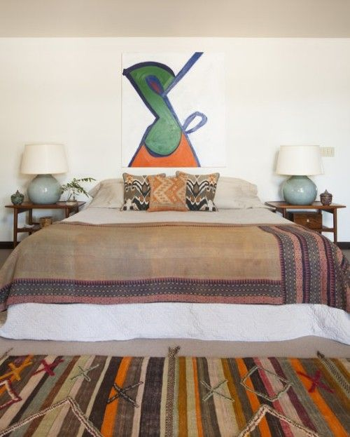 ideen schlafzimmer eklektisch verschiedene muster ausgefallene - ideen für das schlafzimmer