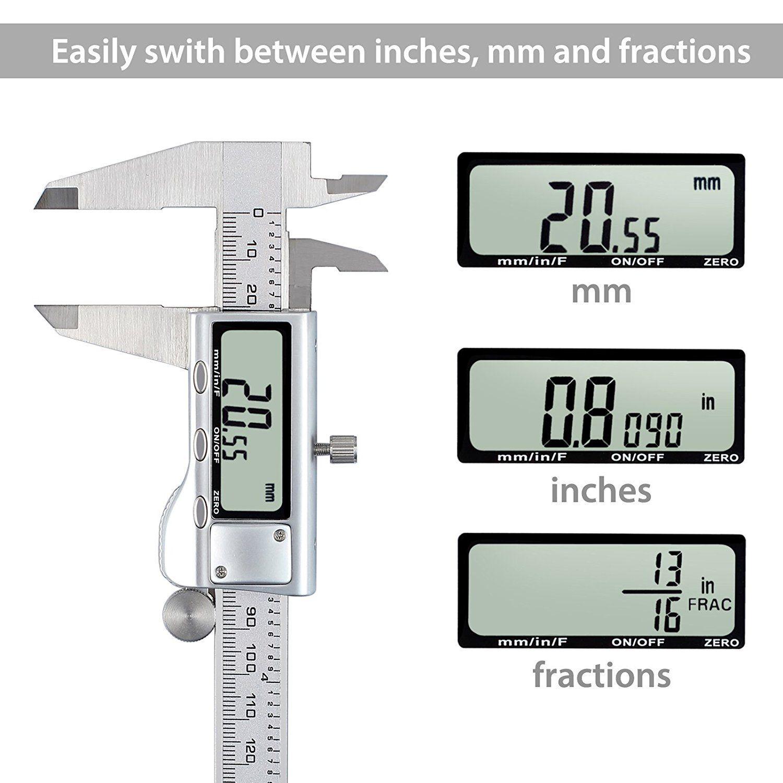 "Digital Vernier Caliper+Feeler Gauge 6/""Stainless Steel Electronic Measuring Tool"