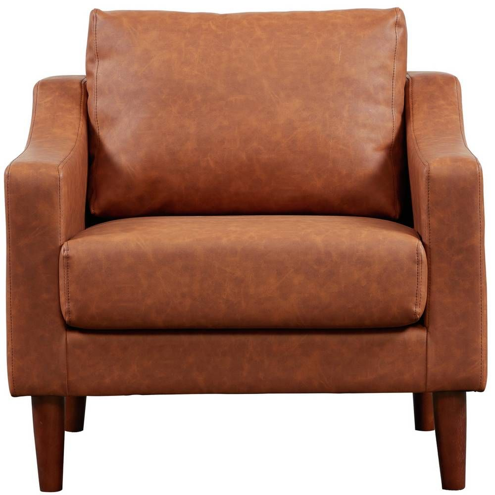 Buy Argos Home Brixton Faux Leather Armchair - Grey ...