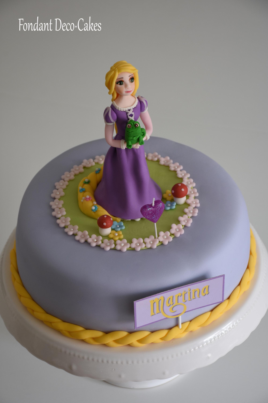 fondant rapunzel torte und cupcakes torta rapunzel y. Black Bedroom Furniture Sets. Home Design Ideas