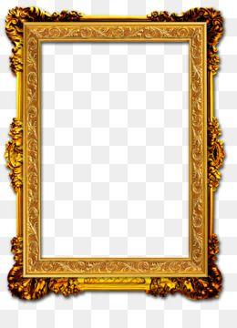 Gold Pattern Dividing Line Golden Pattern Shading Png And Vector With Transparent Background For Free Download Gold Picture Frames Gold Frame Antique Frames