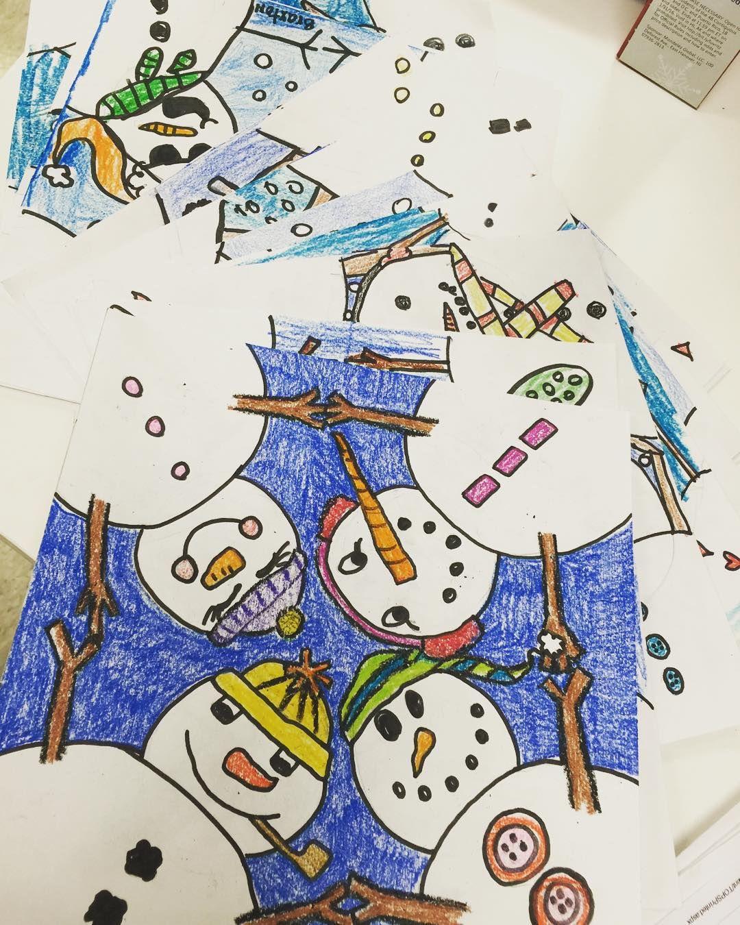Habit 4 Think Win Win Directed Drawing Snowmen Huddle