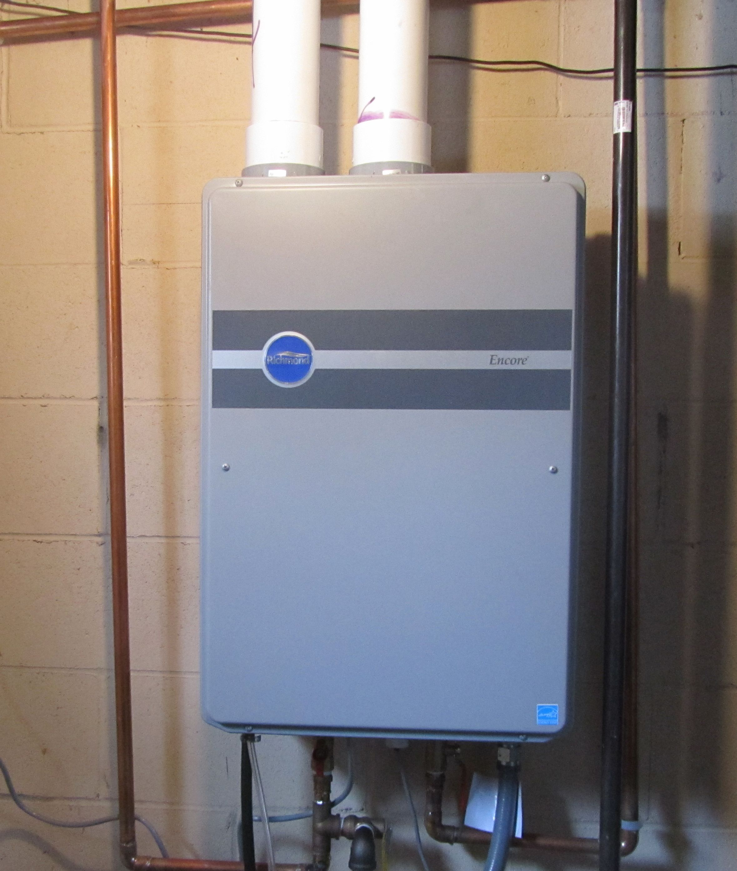 Photo of a tankless water heater | Home Projects | Pinterest | Water ...