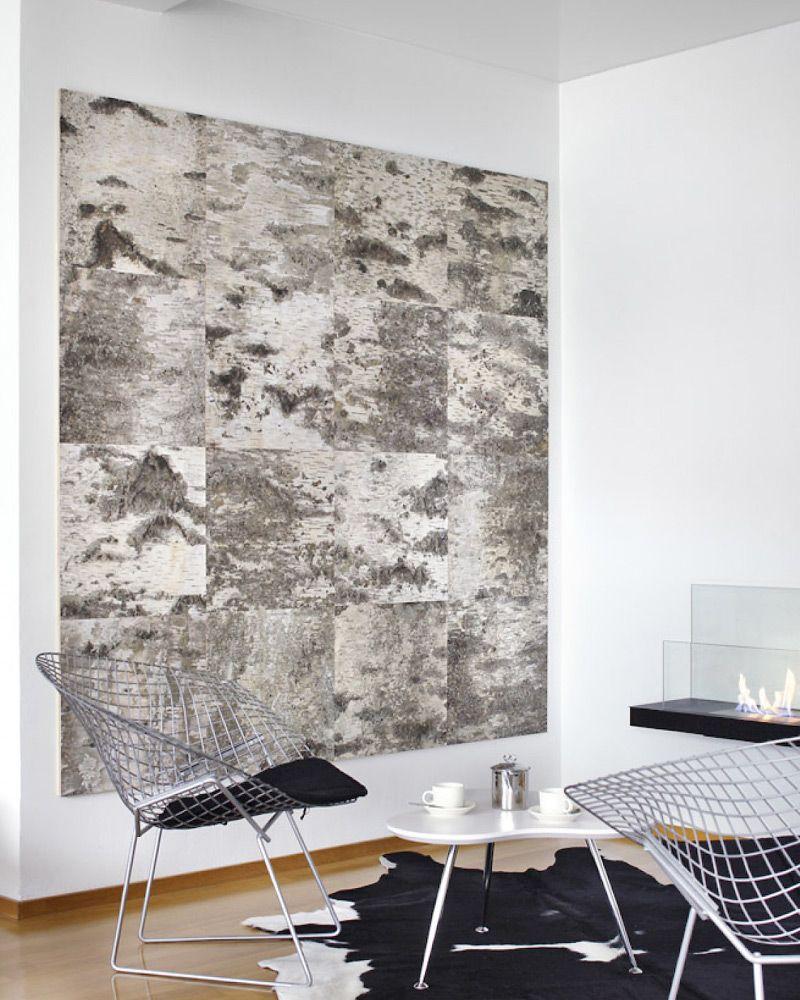 Tuohi Bark Of Birch Panels Decor Living Room Designs Home Decor