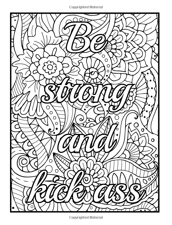 Cuss Word Coloring Pages For Adults - Cinebrique