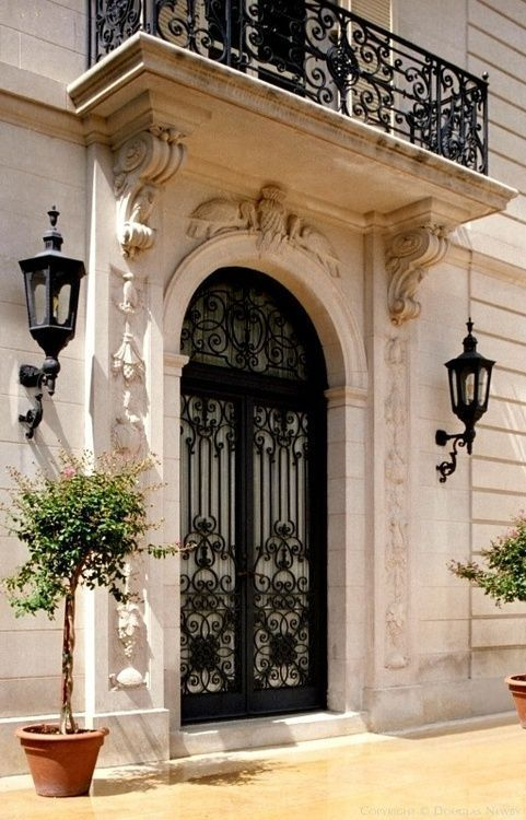 Awesomeviews Gorgeous Detail French Chateau Homes Antique French Doors Wrought Iron Doors