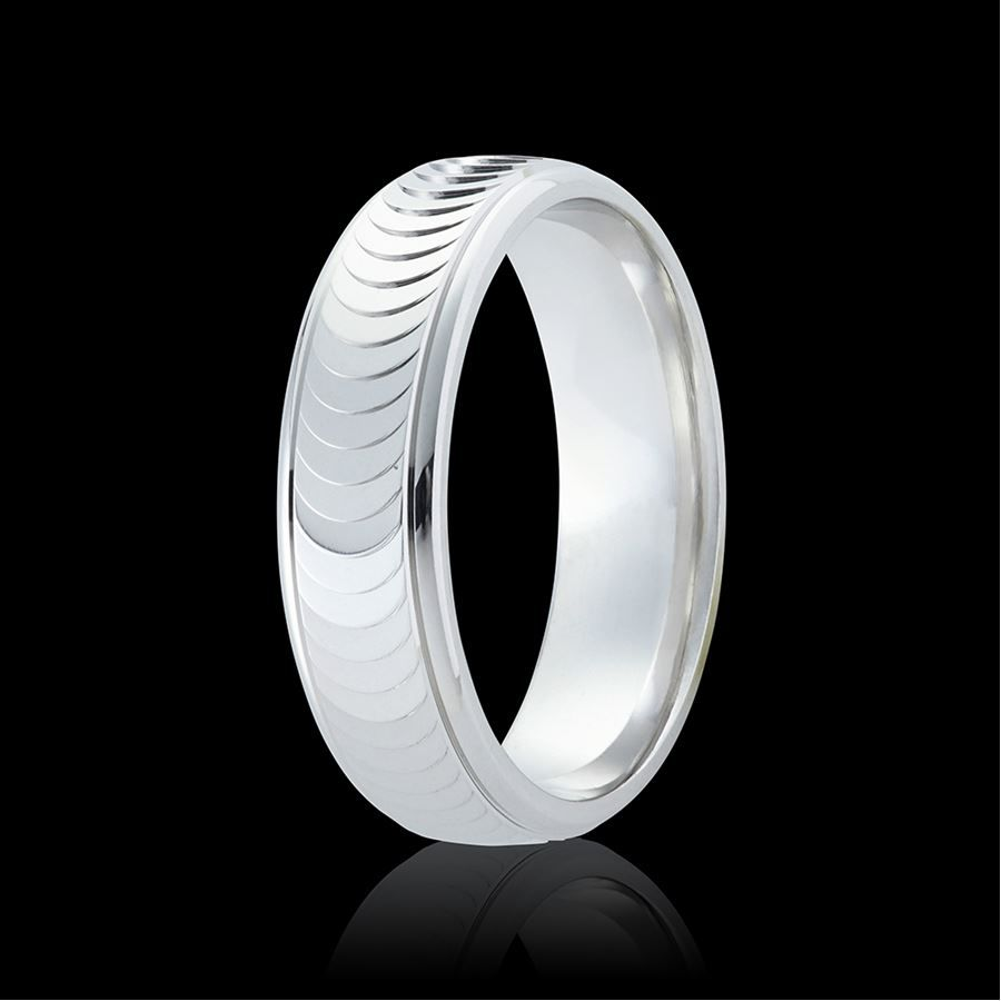 Eclipse Patterned Wedding Ring Band