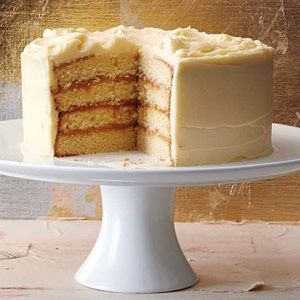 Caramel Cake With Sour Cream Icing Recipe Sour Cream Cake Sour Cream Icing Desserts