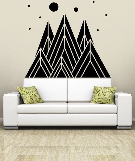 vinyl wall art decal sticker triangle mountains osmb1234s | products