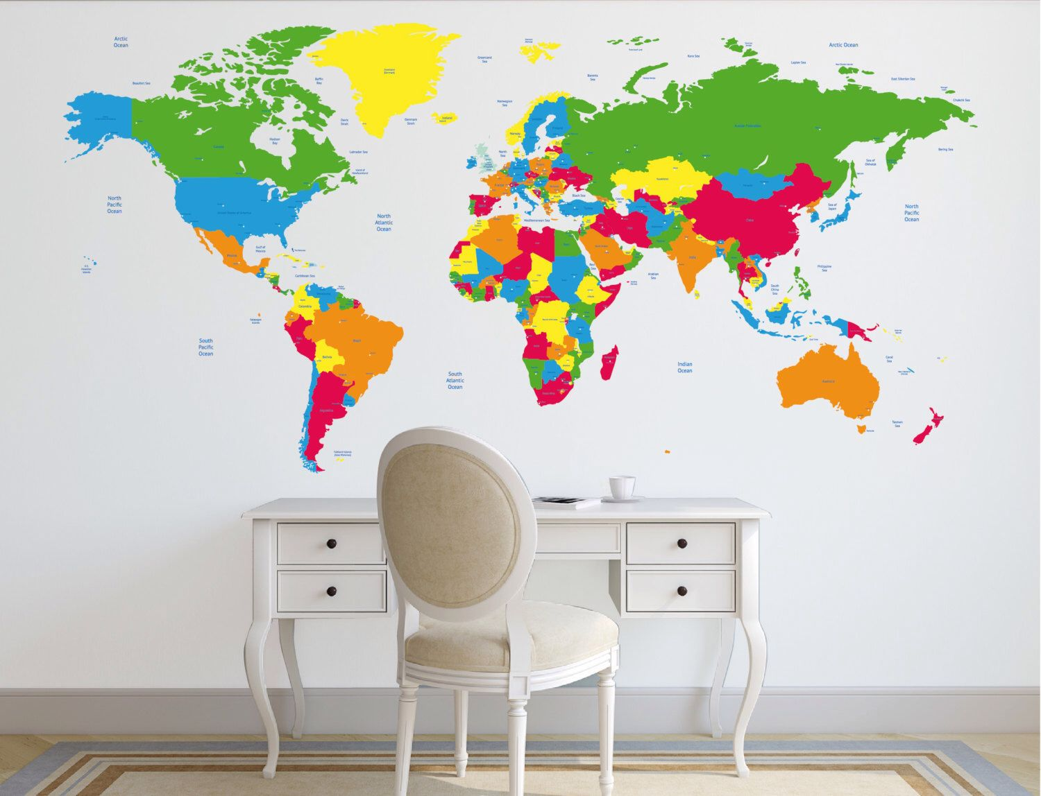 World map decal political world map wall decal country names map world map decal political world map wall decal country names map wall sticker gumiabroncs Images