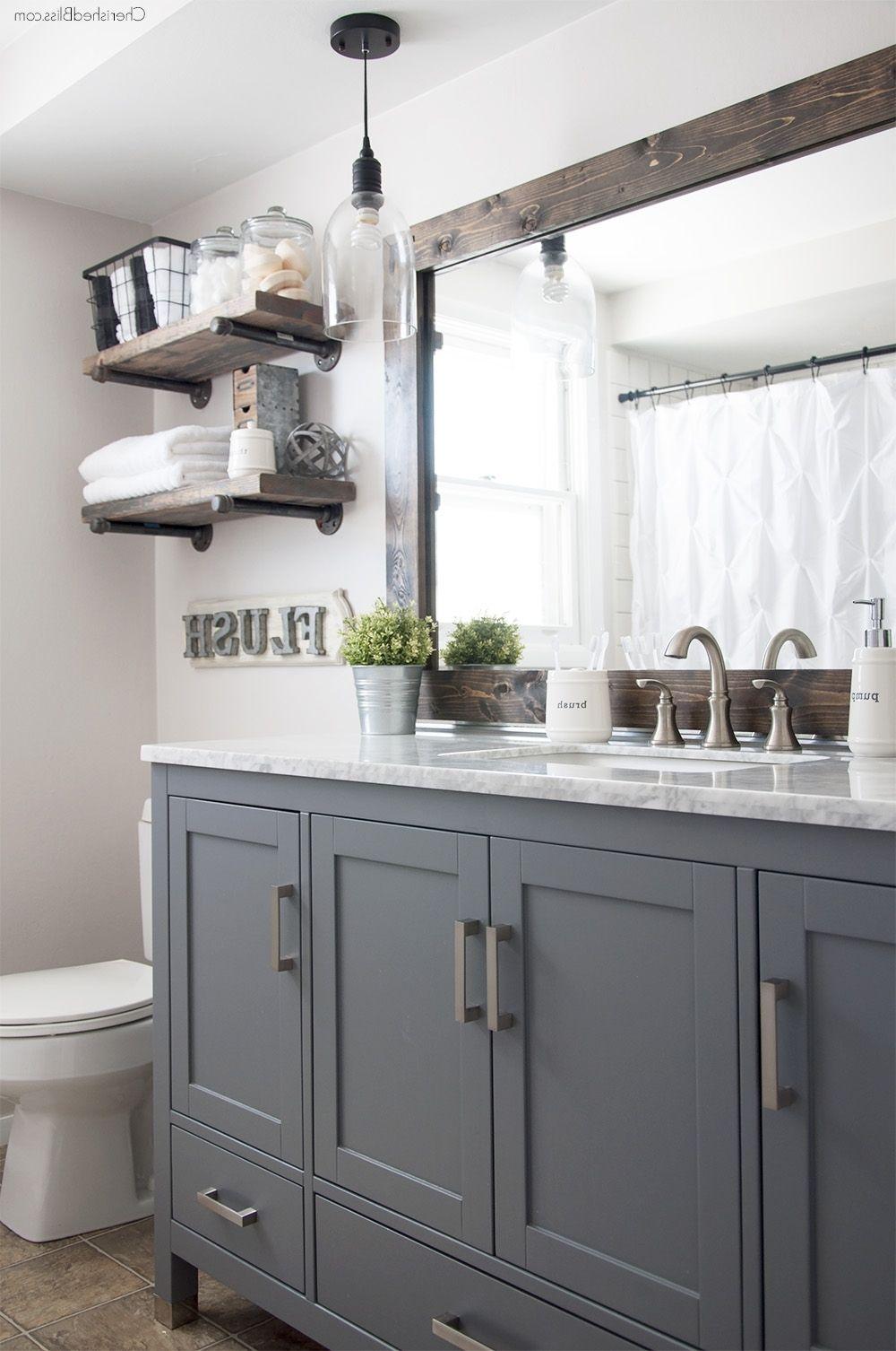 Creative Ways to Decorate your Farmhouse Bathroom   Industrial ...
