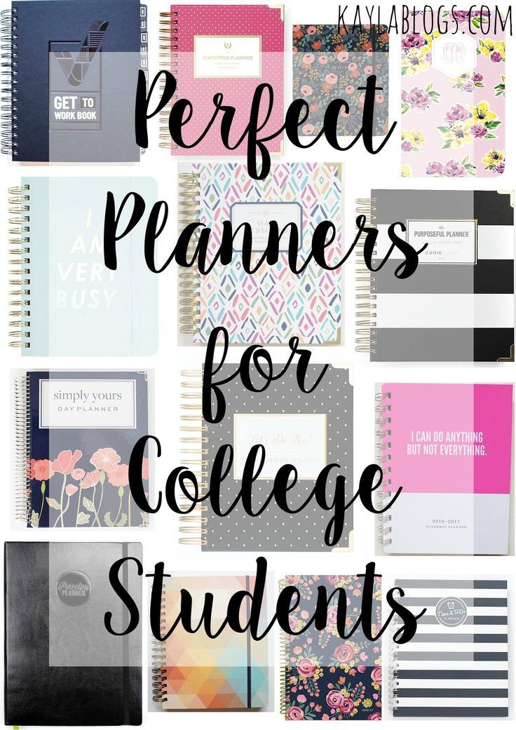 Perfect Planners for College Students + Millennials College