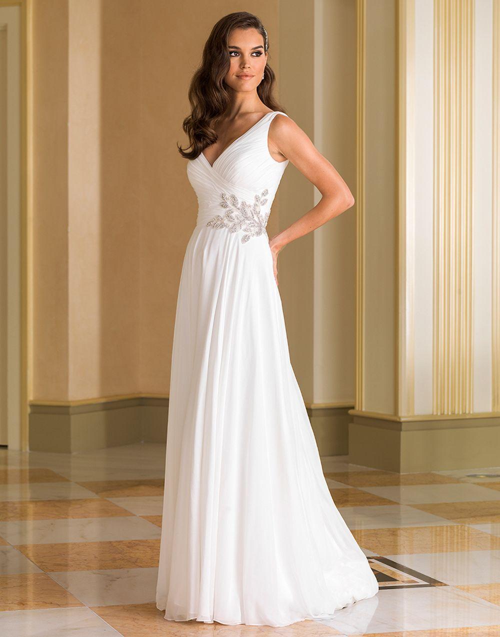 Justin alexander wedding dresses style chiffon gown wedding