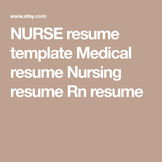 Medical Resumes Nurse Resume Template Medical Resume Nursing Resume Rn Resume .