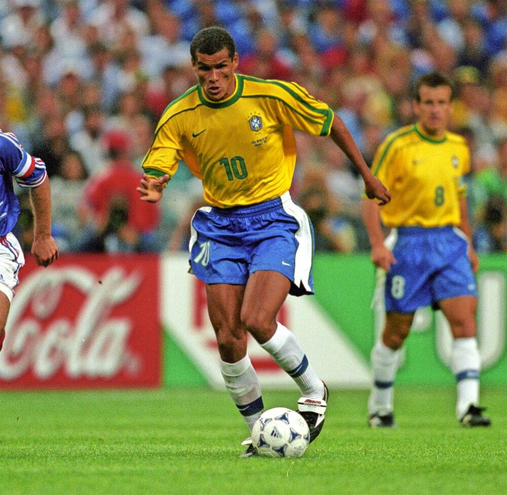 Rivaldo of Brazil in action at the 1998 World Cup Finals.