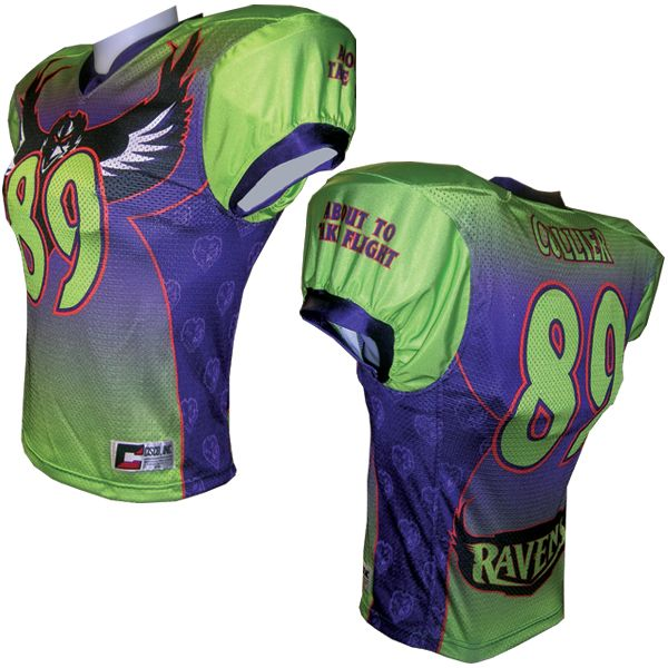 Sublimated football jersey football jerseys pinterest for Custom football jersey shirts