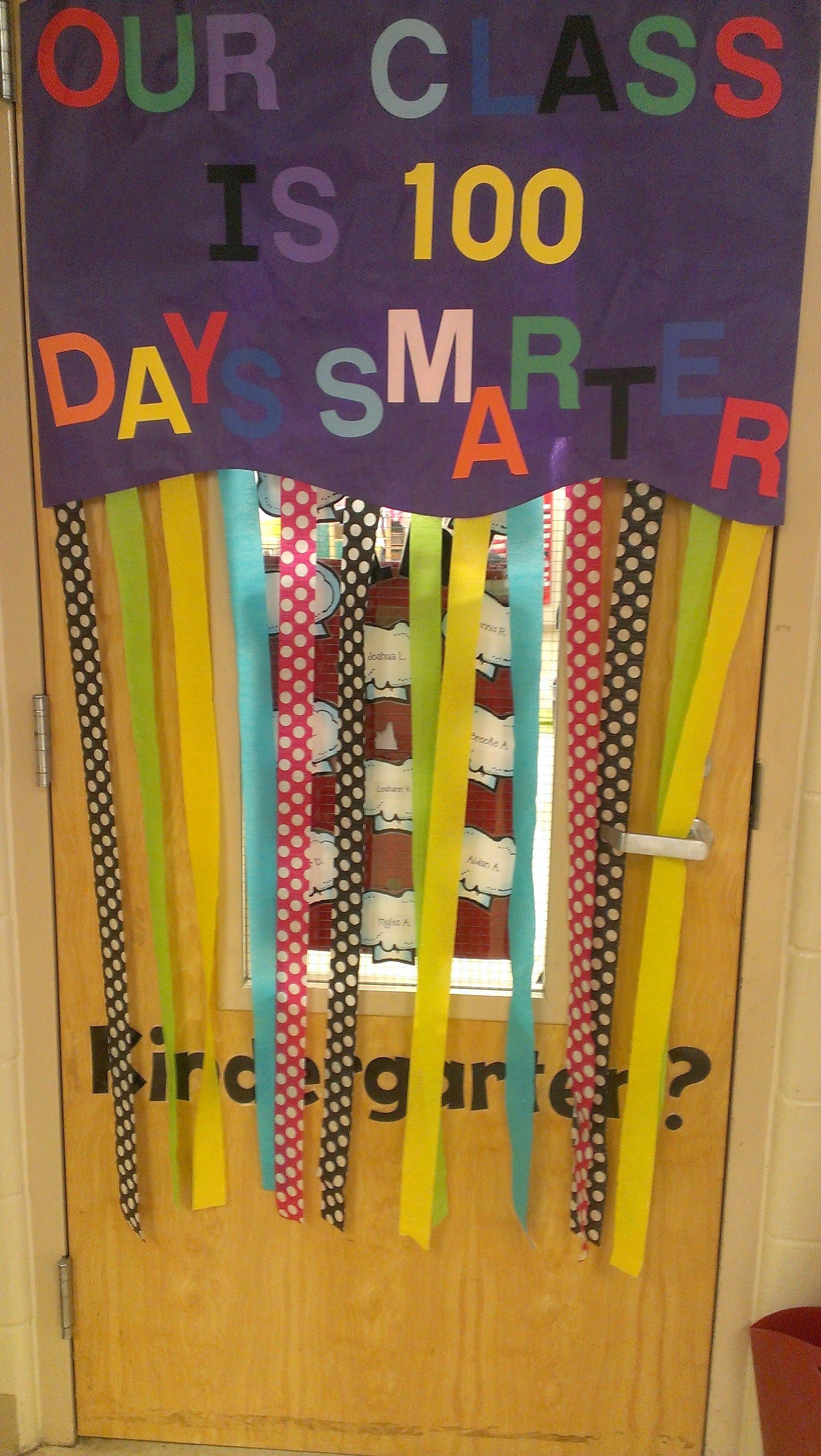 100th Day Of School Door Display