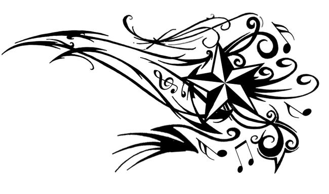 Tribal Nautical Star Tattoo Nautical Star Tattoos Music Tattoo Designs Star Tattoos