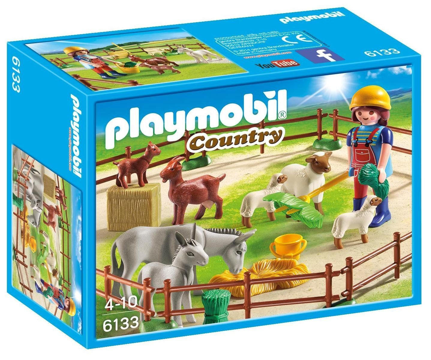 La De Playmobil Granja7 PiesazAmazon esJuguetes 6133Animales byg6f7
