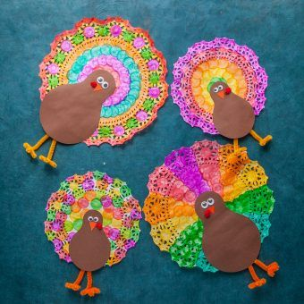 Doily Thanksgiving Turkey - Do-A-Dot Art