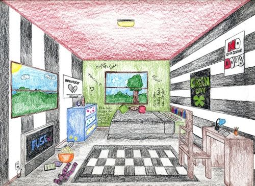 One Point Perspective Dream Room In Intro To Comp Nfte Forum Perspective Art One Point Perspective Perspective Room