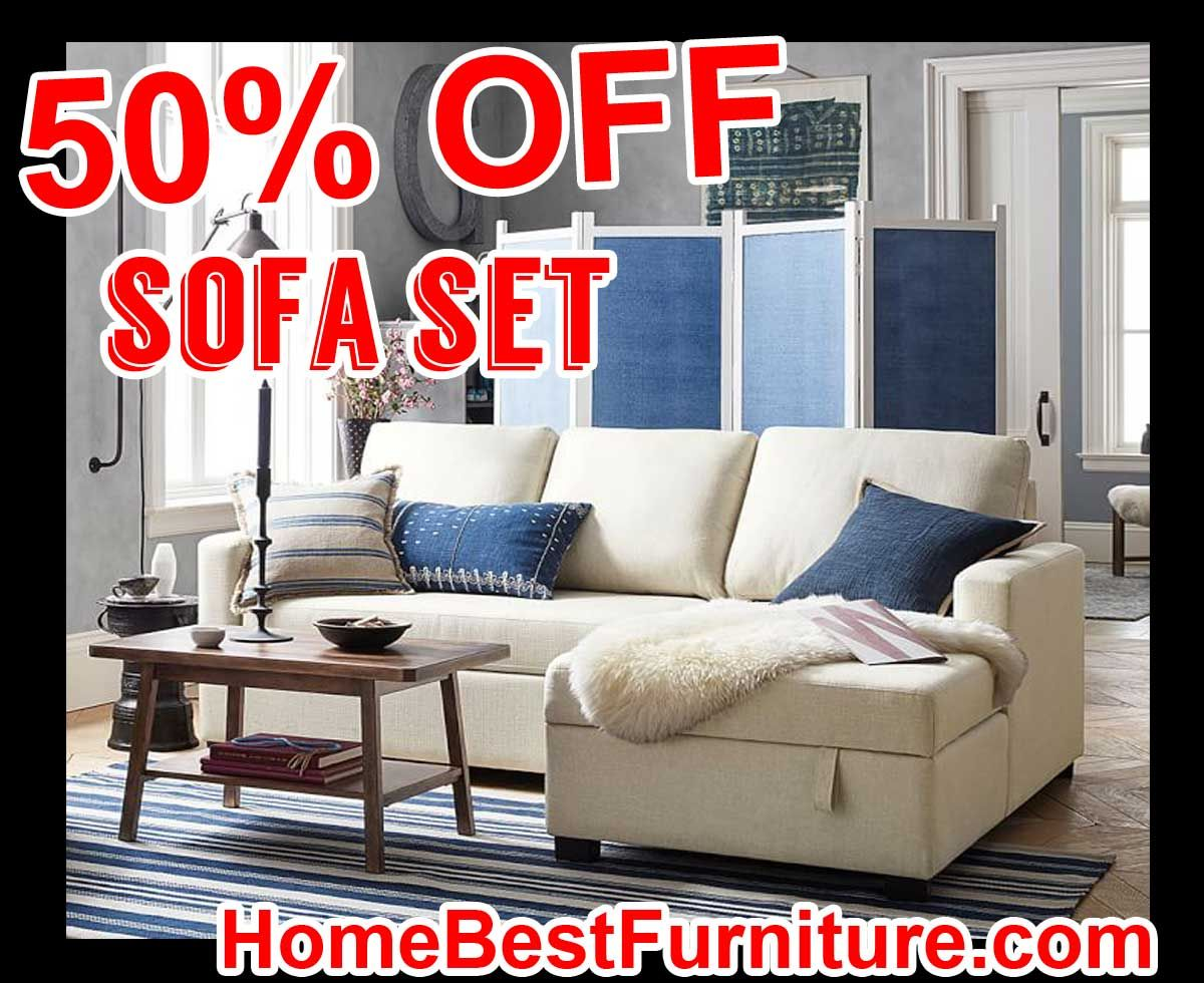 Living Room 50 Off 50 percent off discount soma bryant upholstered sofa with storage