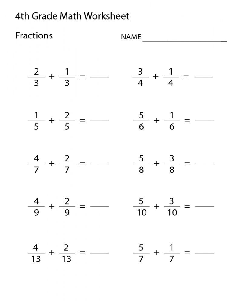 5th Grade Math Worksheets Multiplication And Division Printable   Math fractions  worksheets [ 1000 x 800 Pixel ]