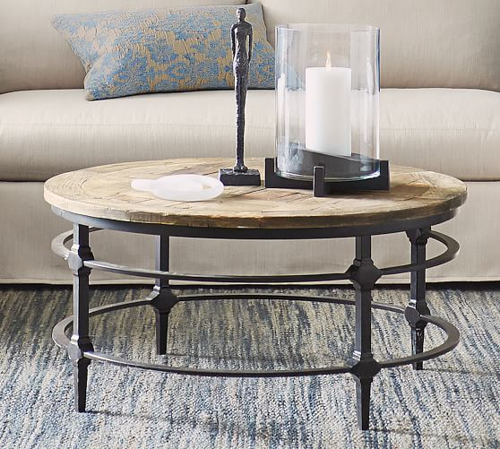 Parquet Reclaimed Wood Round Coffee Table Pottery Barn Round Wood Coffee Table Reclaimed Wood Coffee Table Reclaimed Wood Console Table