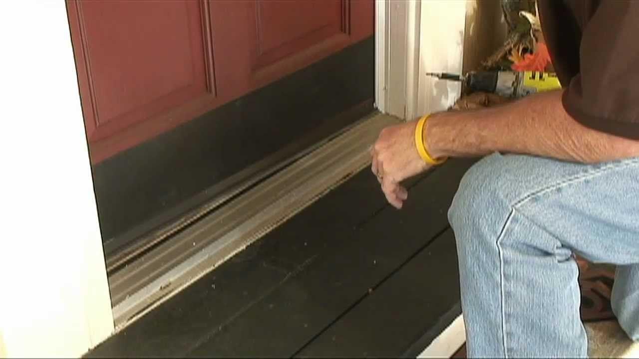 How to WeatherStrip Doors Using a Doorsweep Door
