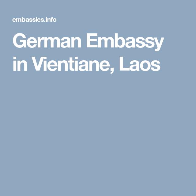German Embassy in Vientiane, Laos